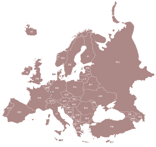 colmic europe map locator